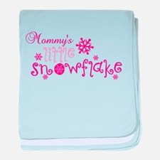 Mommys little snowflake baby blanket