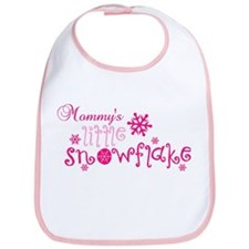 Mommys little snowflake Bib