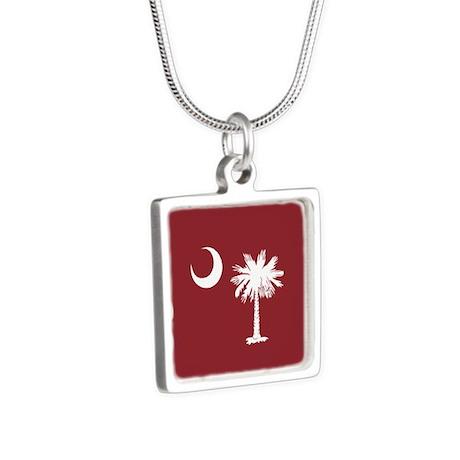 South Carolina Palmetto State Flag Silver Square N