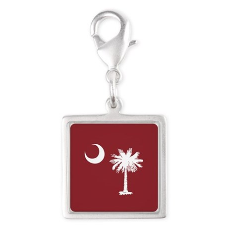 South Carolina Palmetto State Flag Silver Square C