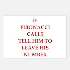 fibonacci Postcards (Package of 8)