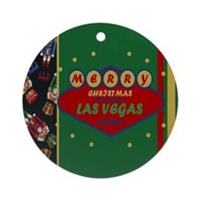 Merry Christmas From Las Vegas Ornament (Round)