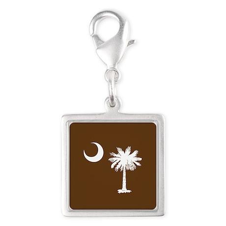 South Carolina Palmetto State Flag Silver Square C