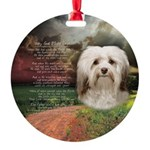 Why God Made Dogs - Havanese Round Ornament