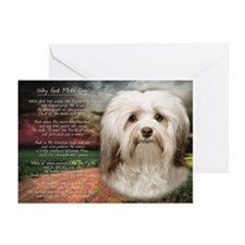 Why God Made Dogs - Havanese Greeting Cards (Pk of