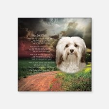 "Why God Made Dogs - Havanese Square Sticker 3"" x 3"