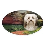 Why God Made Dogs - Havanese Sticker (Oval 50 pk)