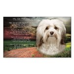 Why God Made Dogs - Havanese Sticker (Rectangle)