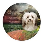 Why God Made Dogs - Havanese Round Car Magnet