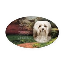 Why God Made Dogs - Havanese Oval Car Magnet