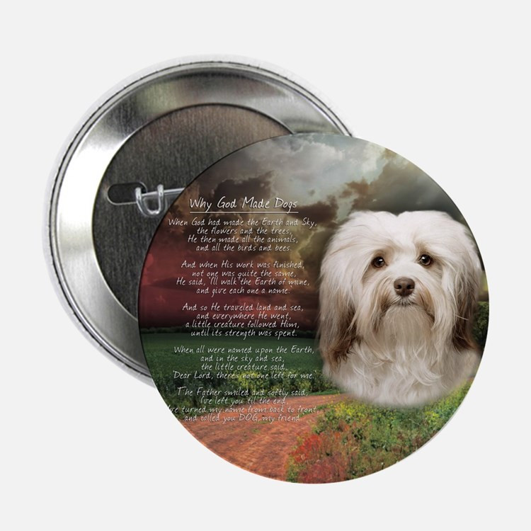"""Why God Made Dogs - Havanese 2.25"""" Button (10 pack"""