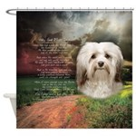 Why God Made Dogs - Havanese Shower Curtain