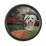 Why God Made Dogs - Havanese Large Wall Clock