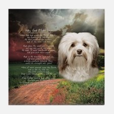 Why God Made Dogs - Havanese Tile Coaster