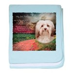 Why God Made Dogs - Havanese baby blanket