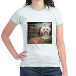 Why God Made Dogs - Havanese Jr. Ringer T-Shirt