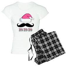 Mustache Santa Pink Pajamas