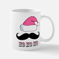 Mustache Santa Pink Mug