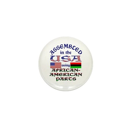 USA / African-American Parts Mini Button - 100