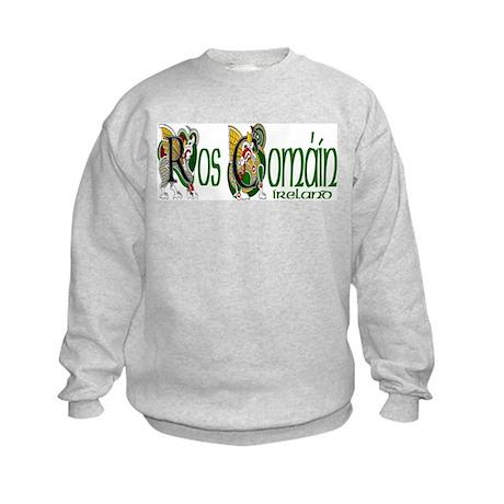 Roscommon Dragon (Gaelic) Kids Sweatshirt