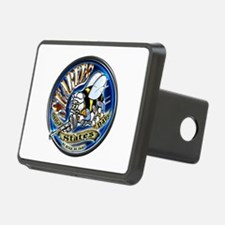 USN Seabees We Build We Fight Blue Hitch Cover