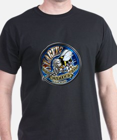 USN Seabees We Build We Fight Blue T-Shirt