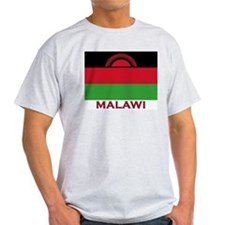 Malawi Flag Gear Ash Grey T-Shirt
