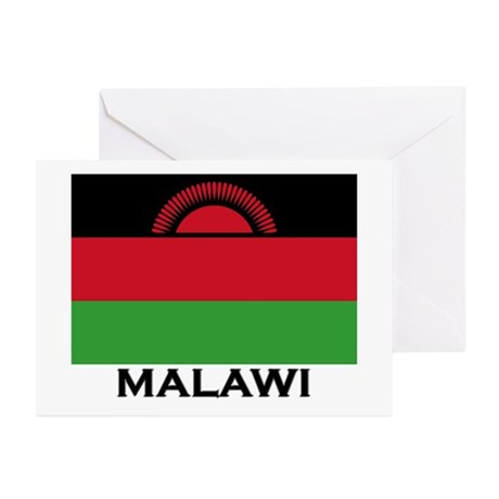 Malawi Flag Merchandise Greeting Cards (Package of