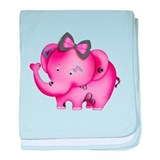 Cute hearts pink elephant Cotton