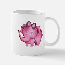 cute hearts pink elephant Mug