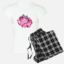 cute hearts pink elephant Pajamas