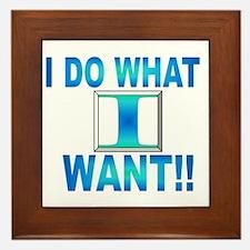do what? Framed Tile