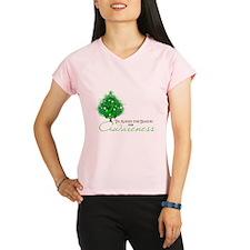Green Ribbon Xmas Tree Performance Dry T-Shirt