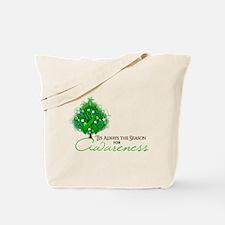 Green Ribbon Xmas Tree Tote Bag