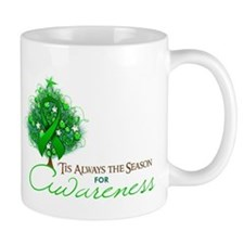 Green Ribbon Xmas Tree Mug