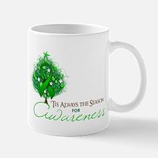 Green Ribbon Xmas Tree Mug