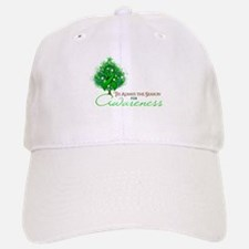 Green Ribbon Xmas Tree Baseball Baseball Cap