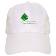 Green Ribbon Xmas Tree Baseball Cap