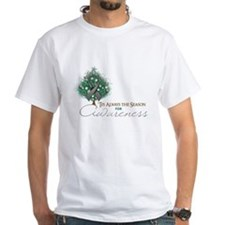 Gray Ribbon Xmas Tree Shirt