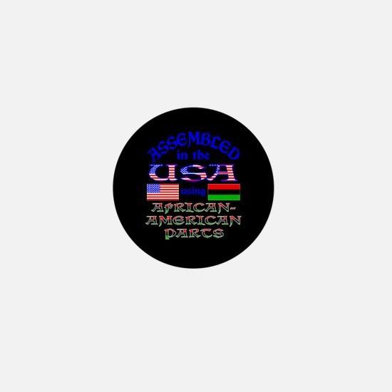 USA / African American Parts Black Mini Button