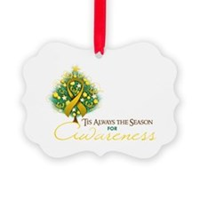 Gold Ribbon Xmas Tree Ornament