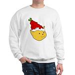 Elf Cat (red hat) 2 Sweatshirt (white)