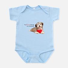 Havanese Heart Infant Bodysuit