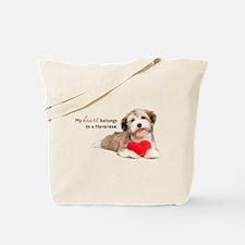 Havanese Heart Tote Bag
