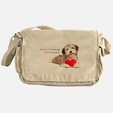 Havanese Heart Messenger Bag