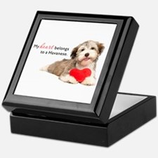 Havanese Heart Keepsake Box
