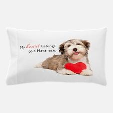 Havanese Heart Pillow Case