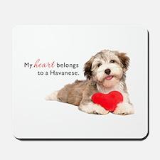 Havanese Heart Mousepad