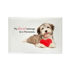Havanese Heart Rectangle Magnet