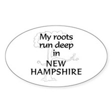 New Hampshire Roots Oval Decal